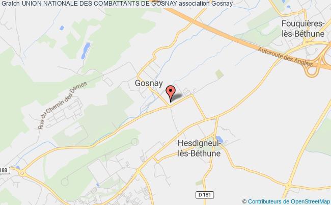 plan association Union Des Combattants D'a.f.n Secteur De Bethune Section De Gosnay