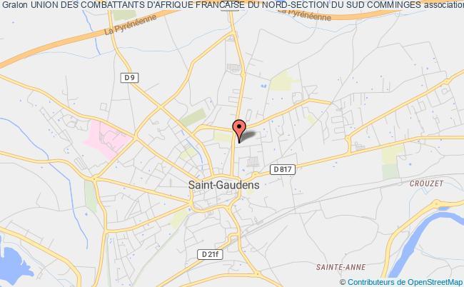 plan association Union Des Combattants D'afrique Francaise Du Nord-section Du Sud Comminges Saint-Gaudens
