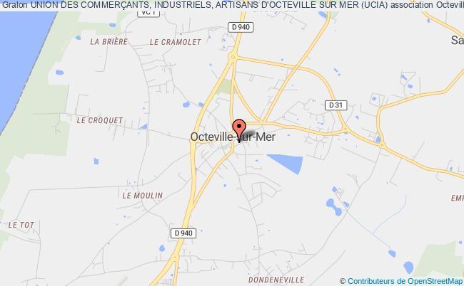 plan association Union Des CommerÇants, Industriels, Artisans D'octeville Sur Mer (ucia) Octeville-sur-Mer