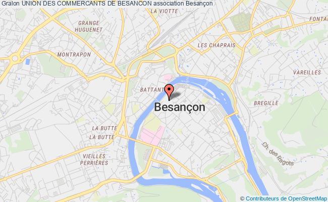 plan association Union Des Commercants De Besancon