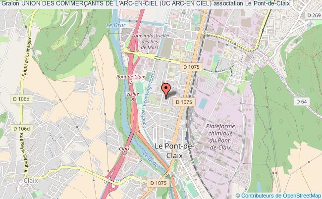 plan association Union Des CommerÇants De L'arc-en-ciel (uc Arc-en Ciel) Pont-de-Claix