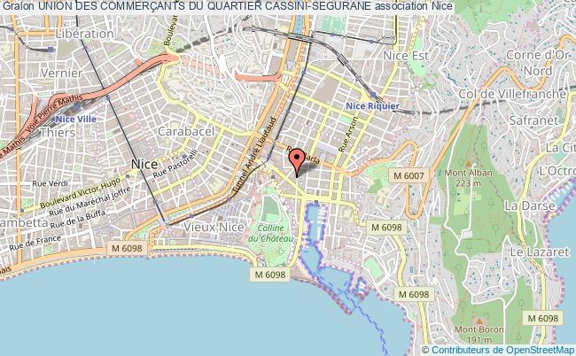 plan association Union Des CommerÇants Du Quartier Cassini-segurane Nice