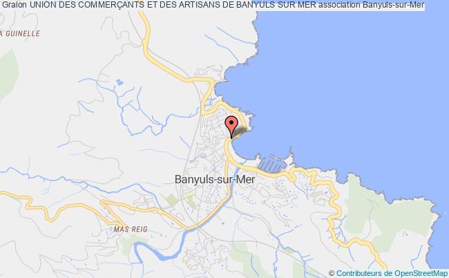 plan association Union Des CommerÇants Et Des Artisans De Banyuls Sur Mer