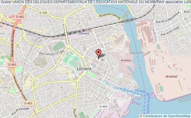 plan association Union Des Delegues Departementaux De L'education Nationale Du Morbihan