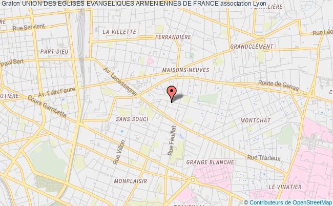 plan association Union Des Eglises Evangeliques Armeniennes De France