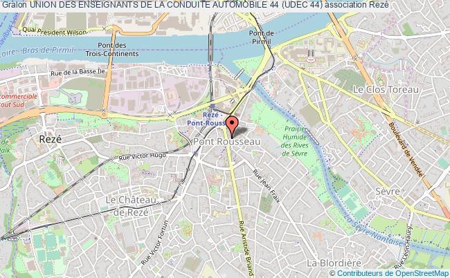 plan association Union Des Enseignants De La Conduite Automobile 44 (udec 44)