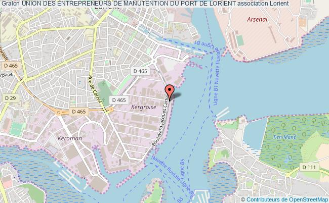 plan association Union Des Entrepreneurs De Manutention Du Port De Lorient