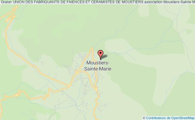 plan association Union Des Fabriquants De Faiences Et Ceramistes De Moustiers Moustiers-Sainte-Marie