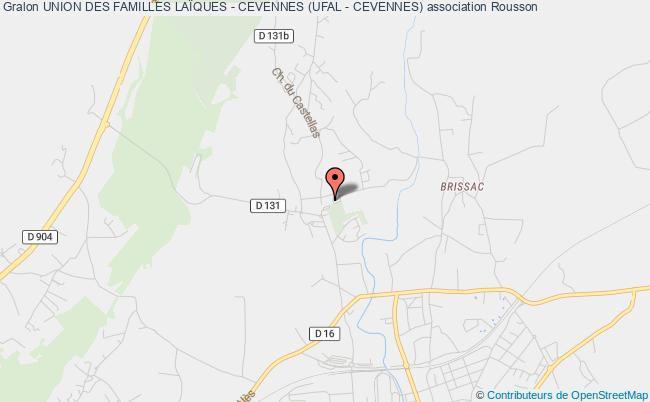 plan association Union Des Familles LaÏques - Cevennes (ufal - Cevennes)
