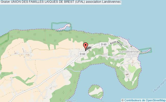 plan association Union Des Familles LaÏques De Brest (ufal) Landévennec