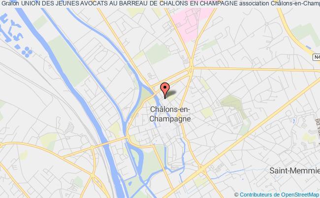 plan association Union Des Jeunes Avocats Au Barreau De Chalons En Champagne