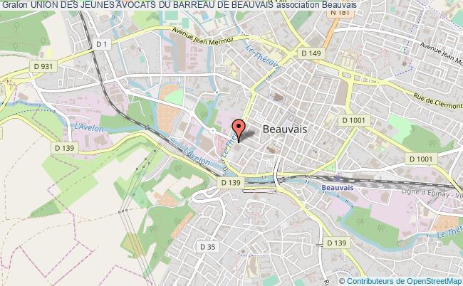 plan association Union Des Jeunes Avocats Du Barreau De Beauvais Beauvais