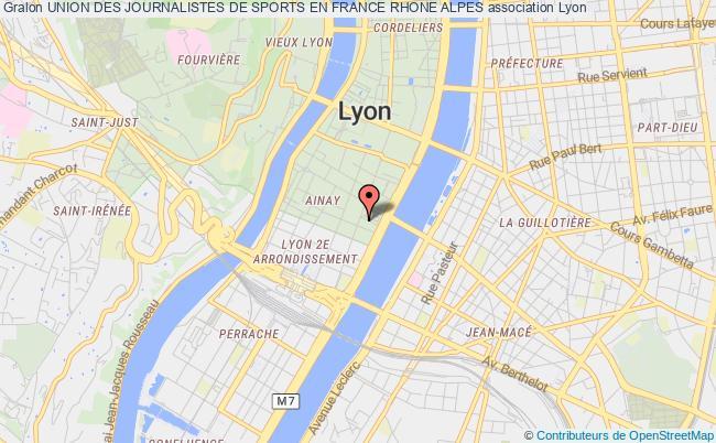 plan association Union Des Journalistes De Sports En France Rhone Alpes