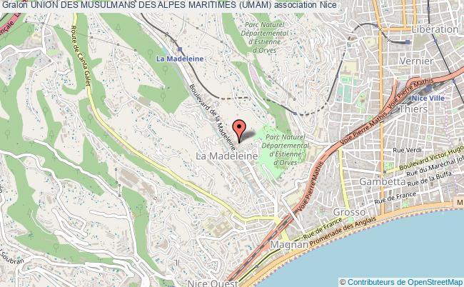 plan association Union Des Musulmans Des Alpes Maritimes (umam)