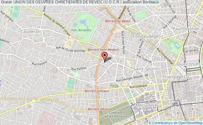 plan association Union Des Oeuvres Chretiennes De Reveil (u.o.c.r.) Bordeaux