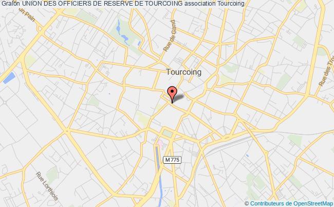 plan association Union Des Officiers De Reserve De Tourcoing Tourcoing