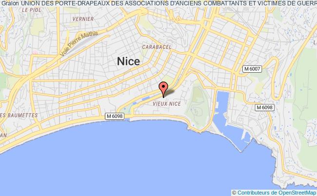 plan association Union Des Porte-drapeaux Des Associations D'anciens Combattants Et Victimes De Guerre Des Alpes-maritimes Et De Monaco Nice