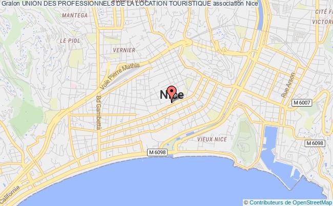 plan association Union Des Professionnels De La Location Touristique Nice