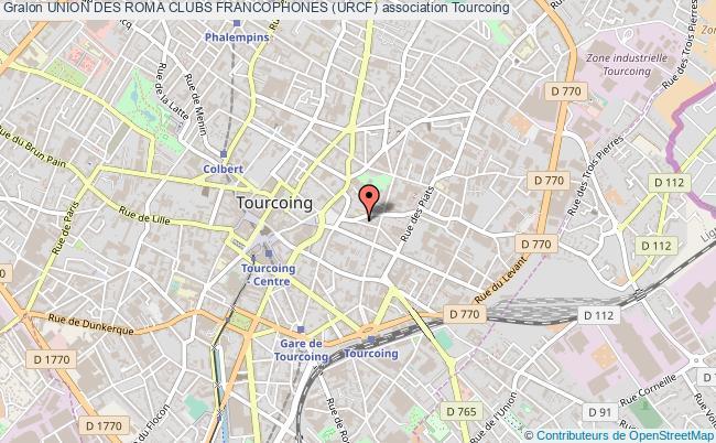 plan association Union Des Roma Clubs Francophones (urcf) Tourcoing
