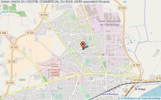 plan association Union Du Centre Commercial Du Bois Jauni