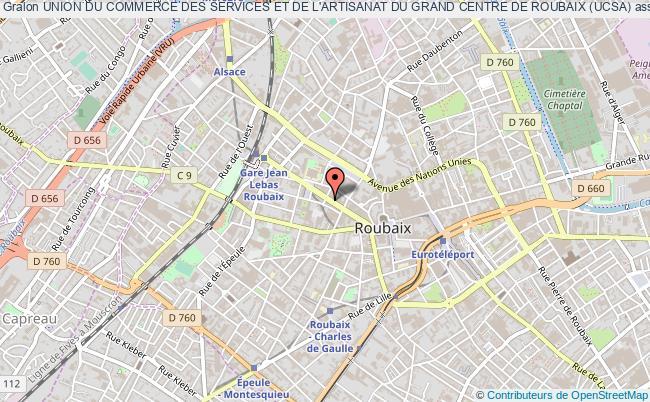 plan association Union Du Commerce Des Services Et De L'artisanat Du Grand Centre De Roubaix (ucsa)