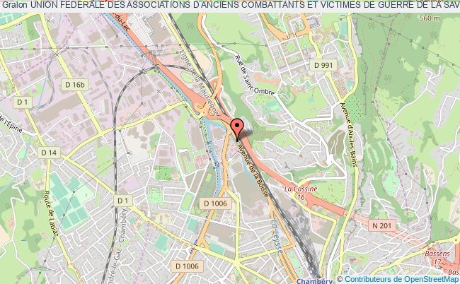 plan association Union Federale Des Associations D Anciens Combattants Et Victimes De Guerre De La Savoie
