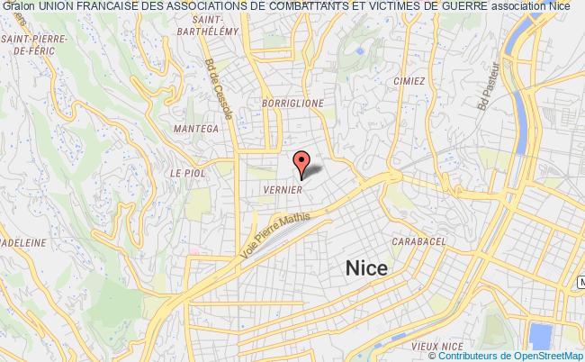 plan association Union Francaise Des Associations De Combattants Et Victimes De Guerre Nice
