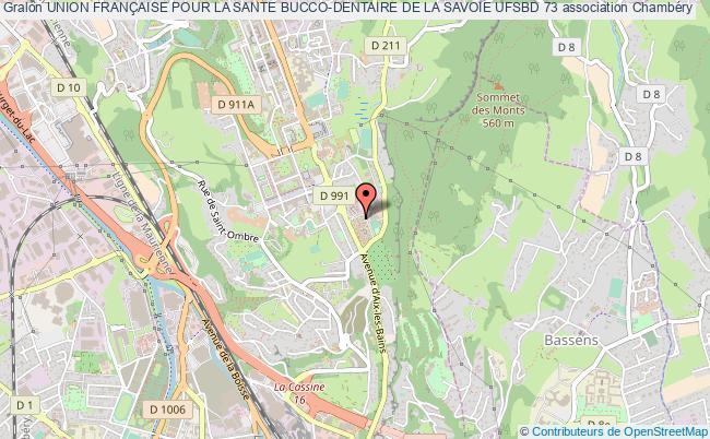 plan association Union FranÇaise Pour La Sante Bucco-dentaire De La Savoie Ufsbd 73