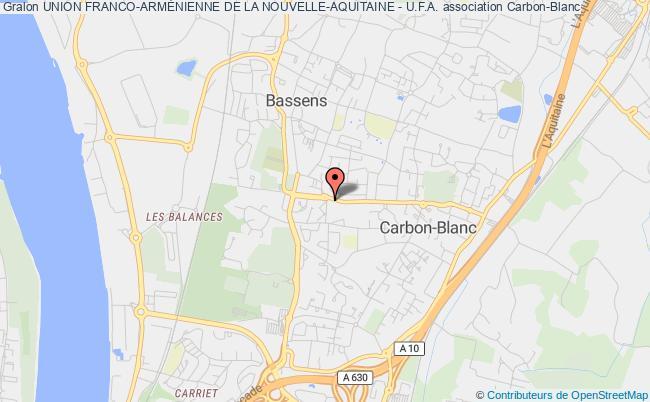 plan association Union Franco-armÉnienne De La Nouvelle-aquitaine - U.f.a.
