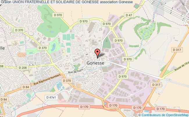 plan association Union Fraternelle Et Solidaire De Gonesse Gonesse