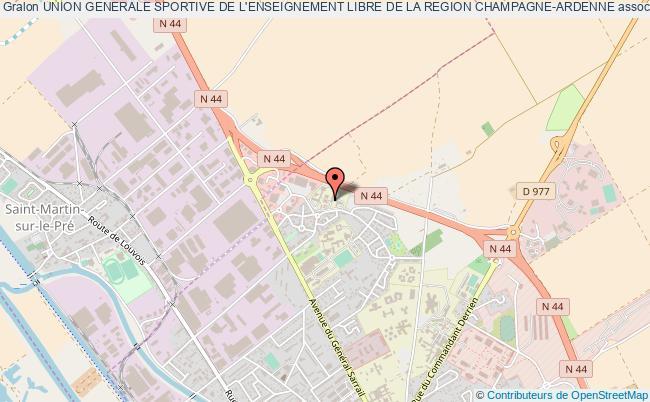 plan association Union Generale Sportive De L'enseignement Libre De La Region Champagne-ardenne