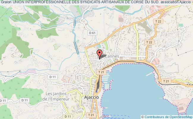 plan association Union Interprofessionnelle Des Syndicats Artisanaux De Corse Du Sud.