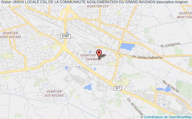 plan association Union Locale Cgl De La CommunautÉ AgglomÉration Du Grand Avignon