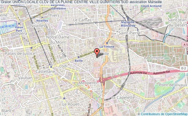 plan association Union Locale Clcv De La Plaine Centre Ville Quartiers Sud