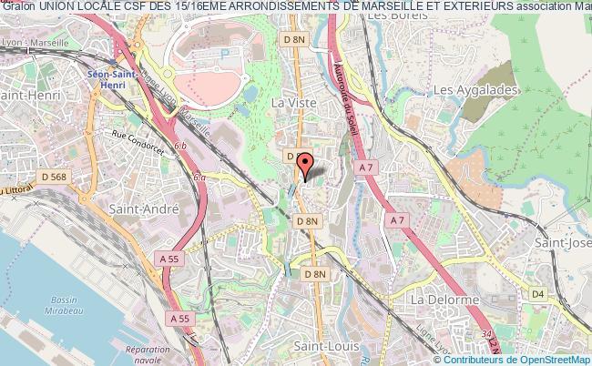 plan association Union Locale Csf Des 15/16eme Arrondissements De Marseille Et Exterieurs