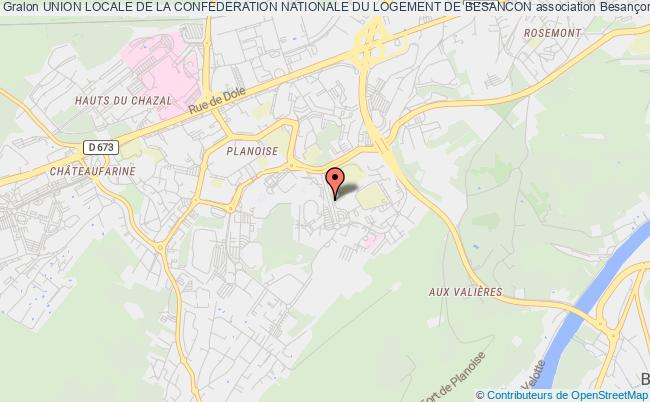 plan association Union Locale De La Confederation Nationale Du Logement De Besancon