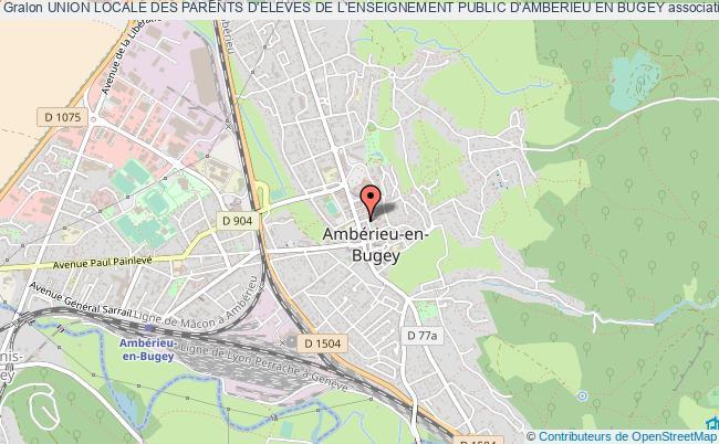 plan association Union Locale Des Parents D'eleves De L'enseignement Public D'amberieu En Bugey