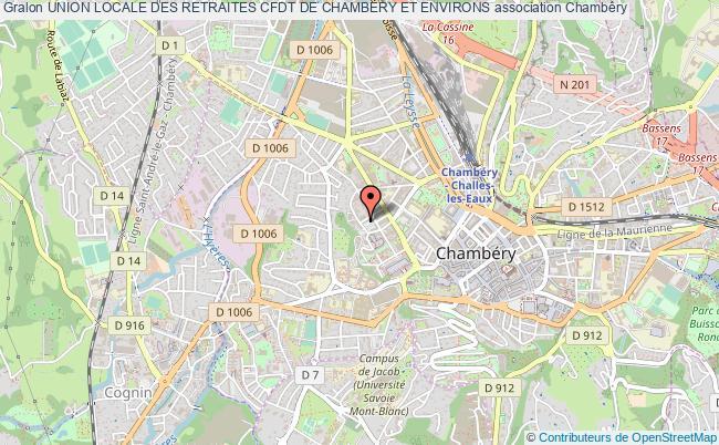 plan association Union Locale Des Retraites Cfdt De Chambery Et Environs