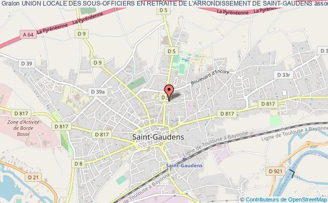 plan association Union Locale Des Sous-officiers En Retraite De L'arrondissement De Saint-gaudens Saint-Gaudens