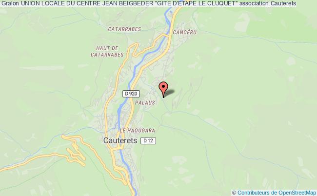 """plan association Union Locale Du Centre Jean Beigbeder """"gite D'etape Le Cluquet"""""""