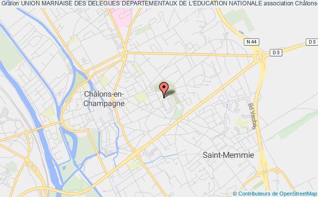 plan association Union Marnaise Des Delegues Departementaux De L'education Nationale