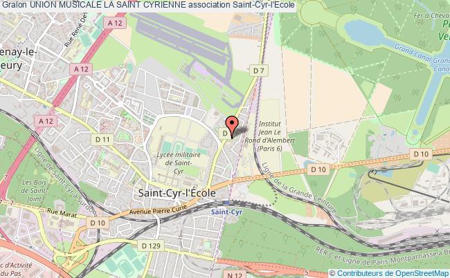 plan association Union Musicale La Saint Cyrienne Saint-Cyr-l'École