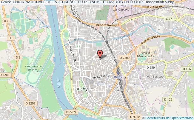 plan association Union Nationale De La Jeunesse Du Royaume Du Maroc En Europe