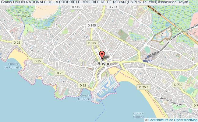 plan association Union Nationale De La Propriete Immobiliere De Royan (unpi 17 Royan) Royan