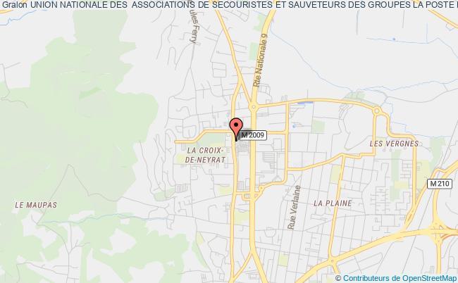 plan association Union Nationale Des  Associations De Secouristes Et Sauveteurs Des Groupes La Poste Et France Telecom Auvergne Denommee Unass Auvergne