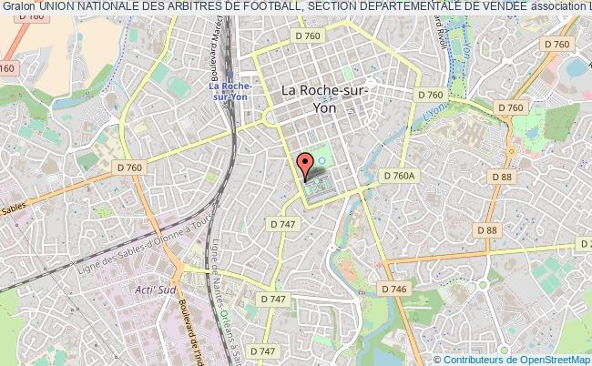plan association Union Nationale Des Arbitres De Football, Section Departementale De Vendee La    Roche-sur-Yon