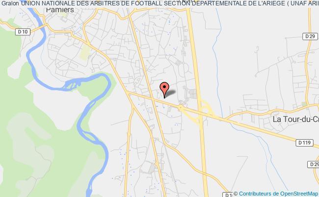 plan association Union Nationale Des Arbitres De Football Section Departementale De L'ariege ( Unaf Ariege )