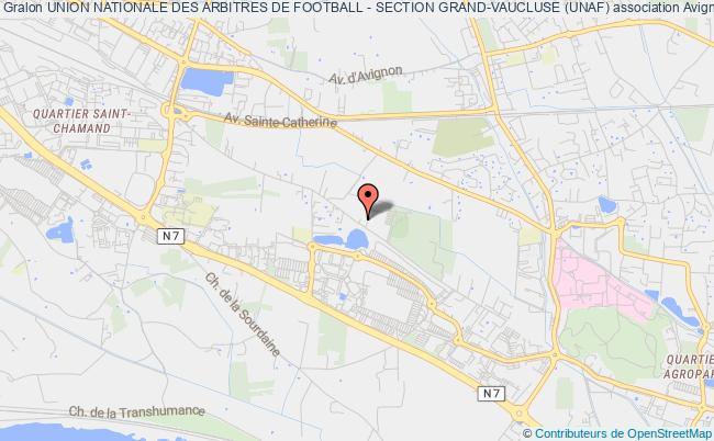 plan association Union Nationale Des Arbitres De Football - Section Grand-vaucluse (unaf)