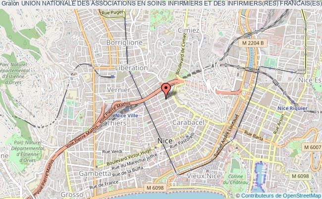 plan association Union Nationale Des Associations En Soins Infirmiers Et Des Infirmiers(res) Francais(es) (unasiif) Nice