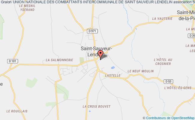 plan association Union Nationale Des Combattants, Section Cantonale De Saint Sauveur Lendelin Saint-Sauveur-Lendelin